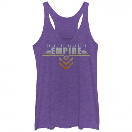 Star Wars Rogue One Join The Galactic Empire Purple Juniors Racerback Tank Top