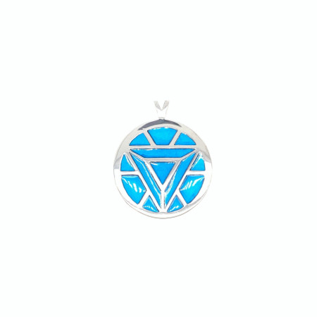 Marvel Iron Man's Arc Reactor Turquoise Pendant