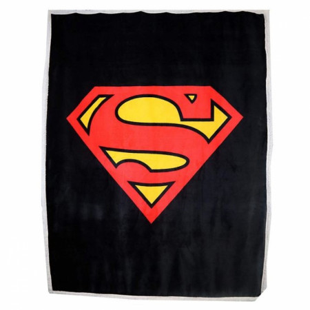 DC Comics Superman Symbol Thick Micro Sherpa Throw Blanket