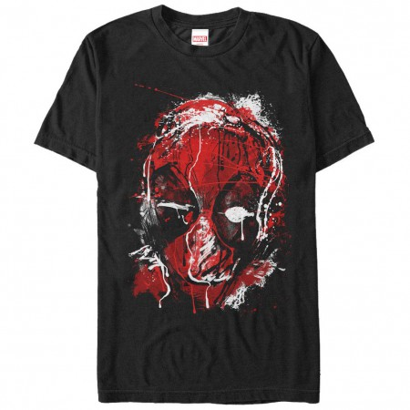 Deadpool Drippy Black Mens T-Shirt