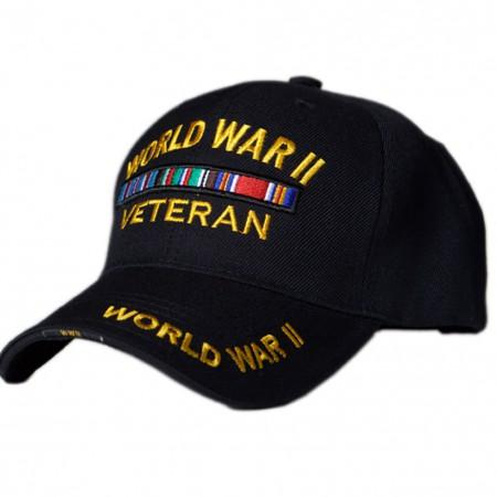 Patriotic World War II Veteran Hat