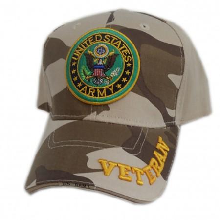 Patriotic US Army Veteran Desert Camo Hat