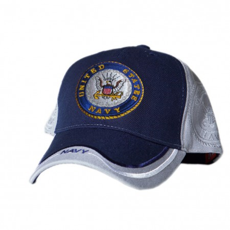 Patriotic US Navy Blue and White Hat