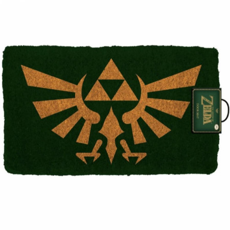 "Zelda Hyrule Crest 17""x 29"" Doormat with Non-Skid Back"