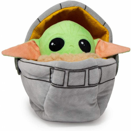 Star Wars Mandalorian The Child Grogu Carriage Plush Squeaky Dog Toy