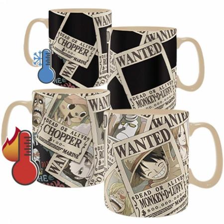 One Piece Wanted Heat Change Mug and Coaster Set