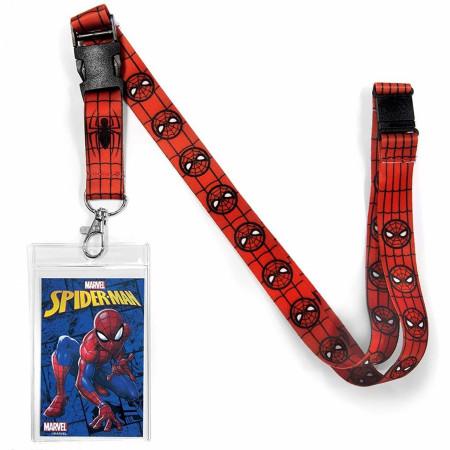 Marvel Comics Spider-Man Logo Covered Lanyard