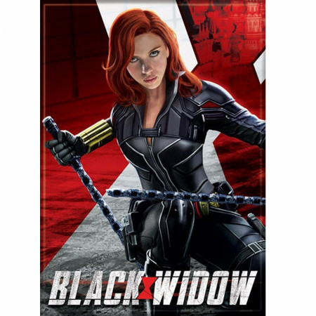Black Widow Movie Character Action Pose Magnet