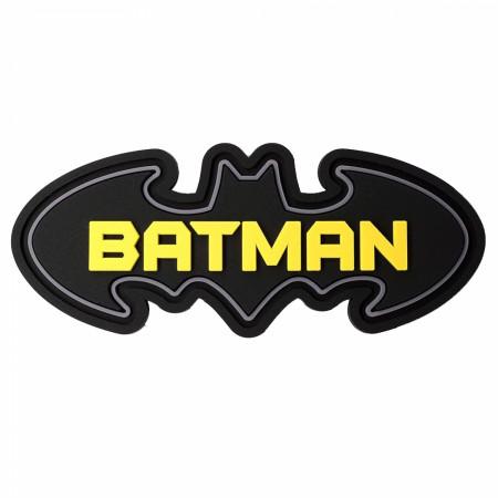 Batman Text in Symbol Soft Touch PVC Magnet