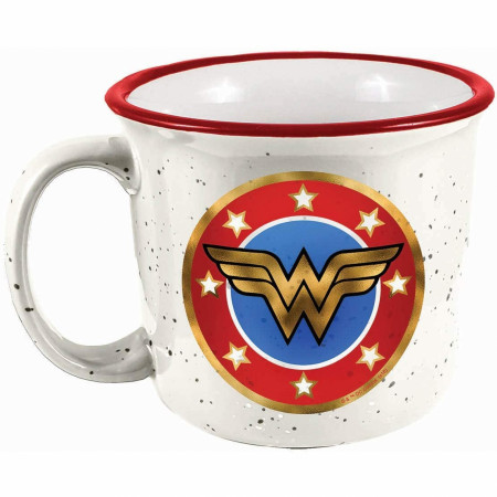 Wonder Woman Symbol Ceramic Camper Mug