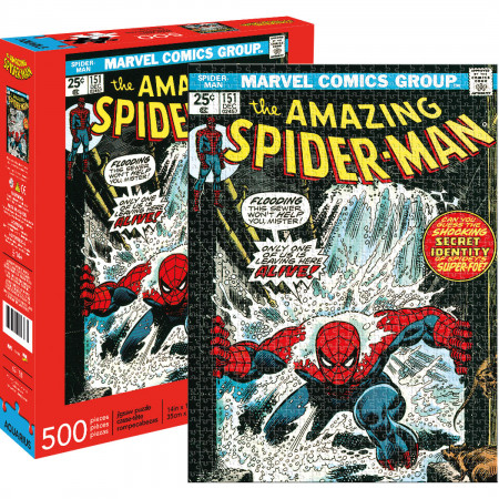 Marvel Spider-Man Comic Cover 500 Piece Puzzle