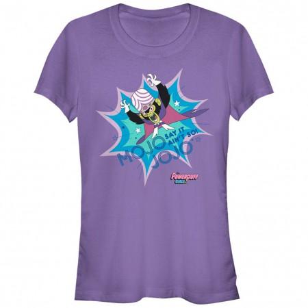 Power Puff Girls Mojo Jojo Say it Ain't So Purple T-Shirt