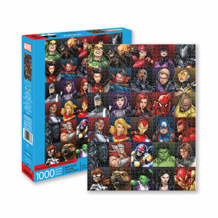 Marvel Heroes Collage 1000 Piece Jigsaw Puzzle