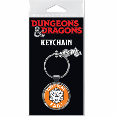 Dungeons & Dragons Critical Fail Keychain