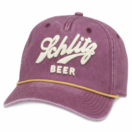 Schlitz Beer Embroidered Logo Snapback Hat