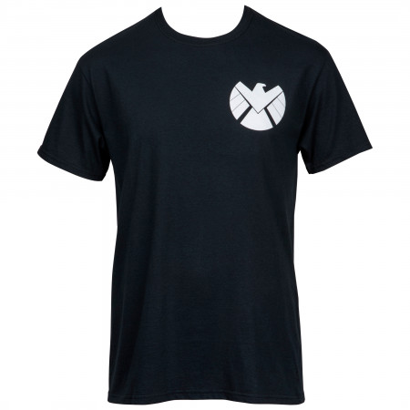 Marvel's S.H.I.E.L.D. Symbol Front and Back Print T-Shirt