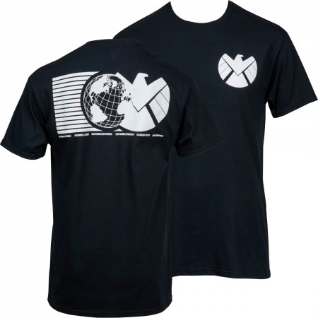 Marvel's S.H.I.E.L.D. Symbol Front and Back Print T-Shirt
