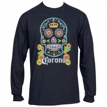 Corona Extra Sugar Skull Unisex Long Sleeve Shirt