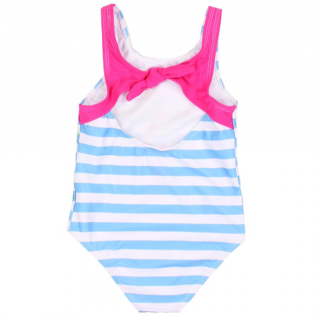 Baby Shark Striped One Piece Toddlers Swimsuit