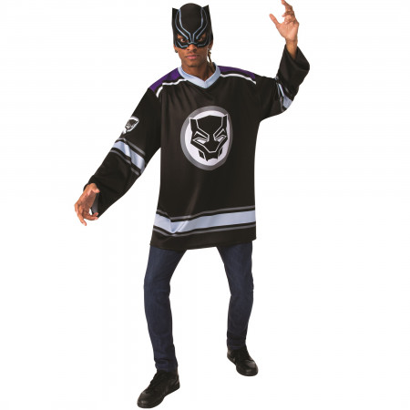 Black Panther Hockey Jersey and Mask