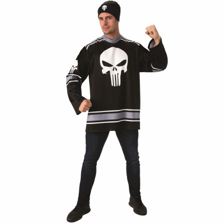 Punisher Hockey Jersey and Beanie