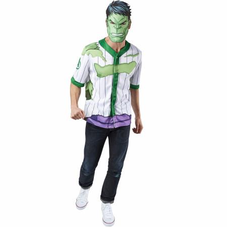 Incredible Hulk Men's Baseball Jersey Top and Mask
