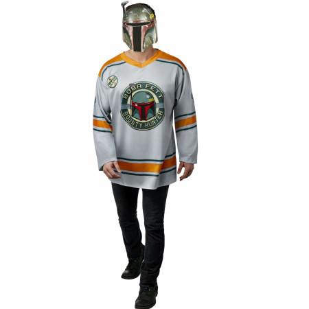 Star Wars Original Trilogy Boba Fett Men's Hockey Jersey and Mask