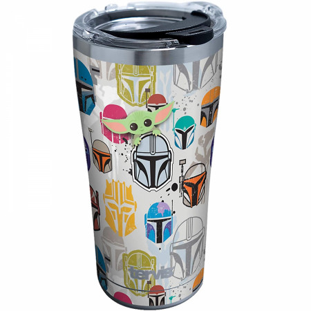 Star Wars The Mandalorian Helmets and Faces 20 oz. Stainless Tervis Tumbler