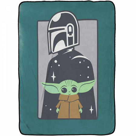 Star Wars The Mandalorian The Curious Child Throw Blanket