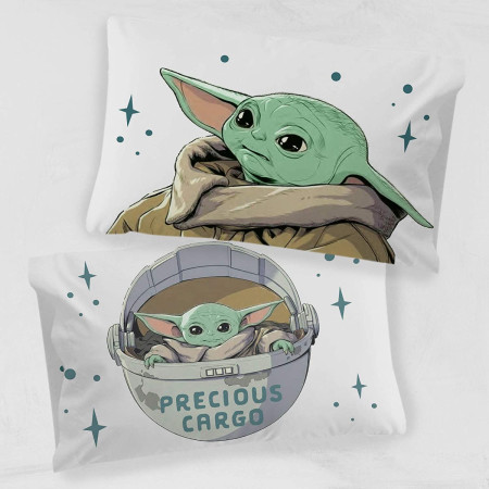 Star Wars The Mandalorian Curious Child 1-Pack Reversible Pillowcase