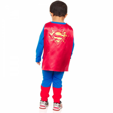 Superman Toddler Dress Up Costume Suit with Cape