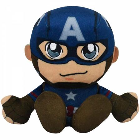 Marvel Captain America 8 Inch Kuricha Sitting Plush Doll