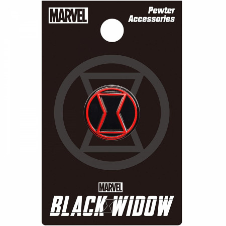 Black Widow Movie Symbol Pewter Lapel Pin