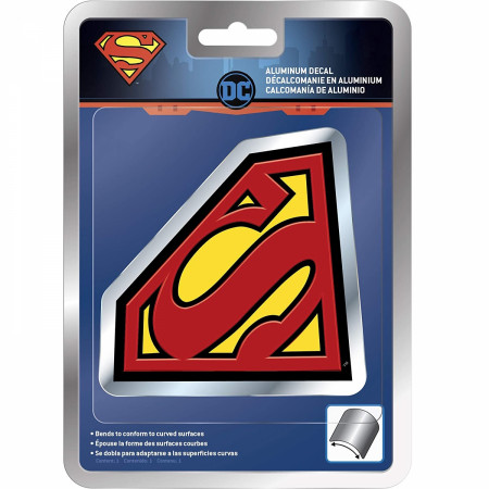 Superman Aluminum Car Decal