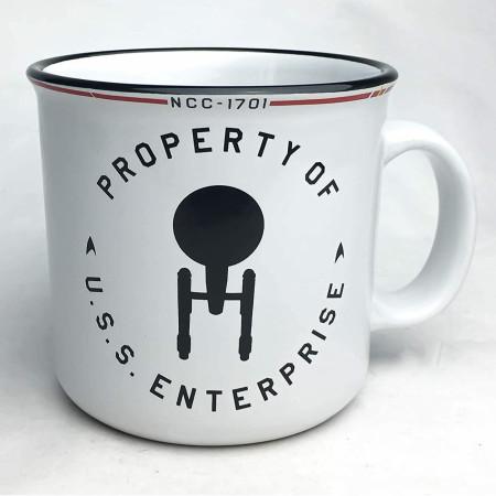 Stark Trek Property of U.S.S. Enterprise 20 Ounce Camper Mug