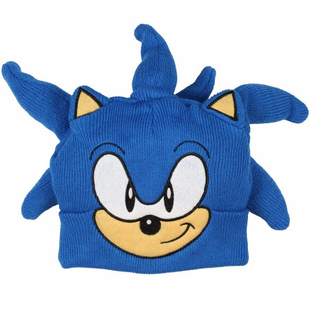 Sonic the Hedgehog Character Face Costume Youth Knit Beanie
