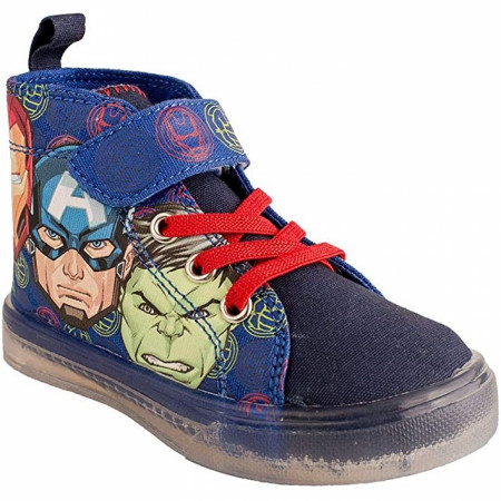 Avengers Assemble Kids Lighted Canvas Shoes