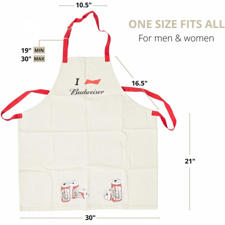 Budweiser I Heart Grill Master Collection Apron
