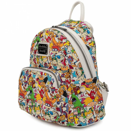 Nickelodeon Nick Rewind Gang All Over Print Loungefly Mini Backpack