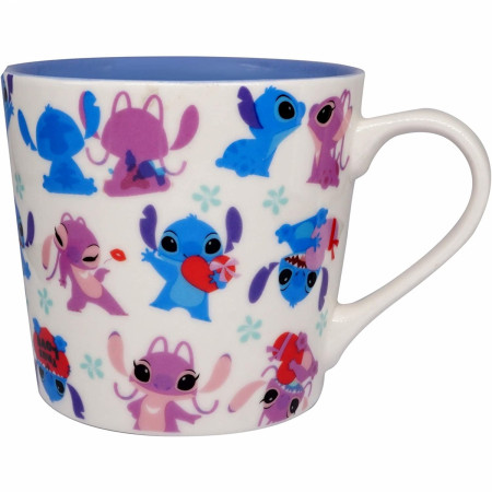 Disney Lilo and Stitch Angel & Stitch Dancing 15 Ounce Ceramic Mug