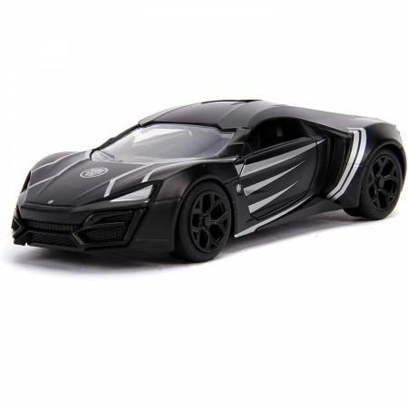 """Black Panther Lykan Hypersport Diecast Metal 5"""" Movie Car by Jada Toys"""