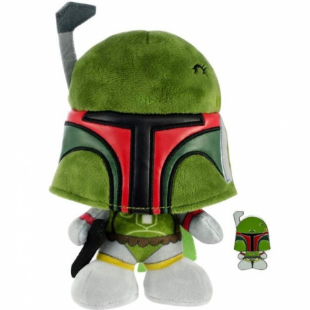 Star Wars Boba Fett Stylized 7 Inch Plush Doll with Enamel Pin