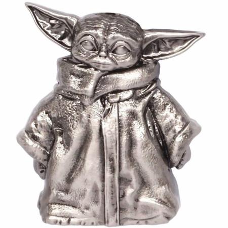 Star Wars The Mandalorian The Child Grogu Standing Pewter Lapel Pin