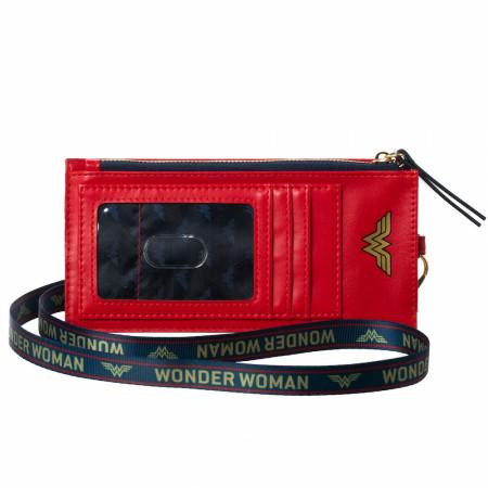 Wonder Woman Red Phone Sleeve With Lanyard