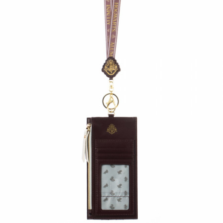 Harry Potter Hogwarts Maroon Phone Sleeve With Lanyard