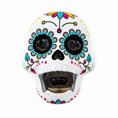 Sugar Skull Wall Mounted Bottle Opener