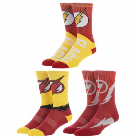 Flash 3-Pair Pack Men's Athletic Crew Socks