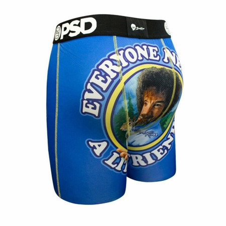 Bob Ross Little Friend Men's Blue Boxer Briefs
