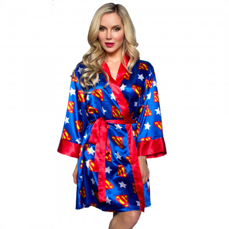 Superman Women's Silk Printed Robe