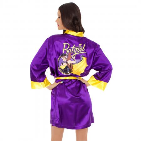 Batgirl Silky Bombshell Satin Robe